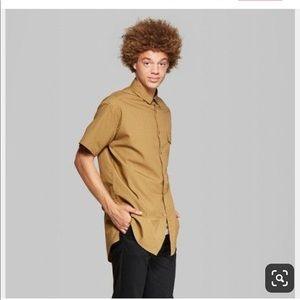 Men's long line short sleeve shirt